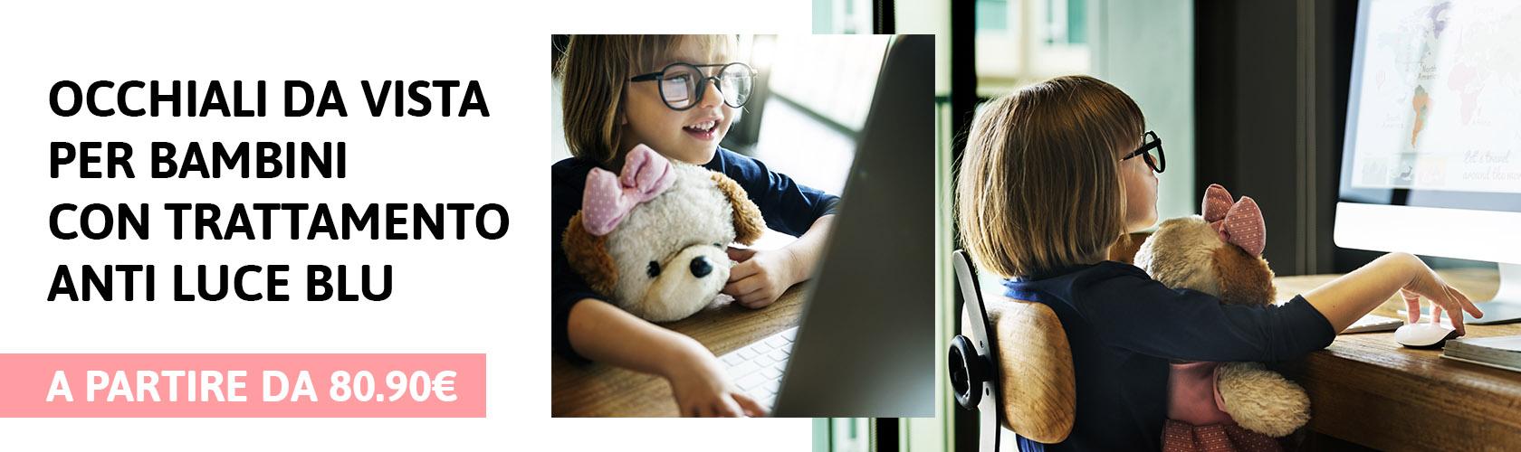 Occhiali per bambini con trattamento anti luce blu