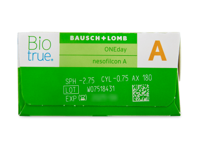 Biotrue ONEday for Astigmatism (30 lenti) - Attributes preview