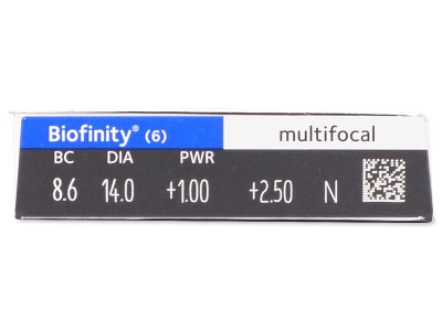 Biofinity Multifocal (6 lenti) - Attributes preview