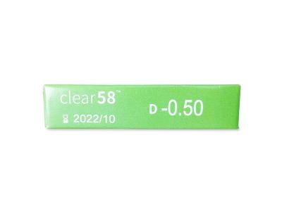 Clear 58 (6lenti) - Attributes preview