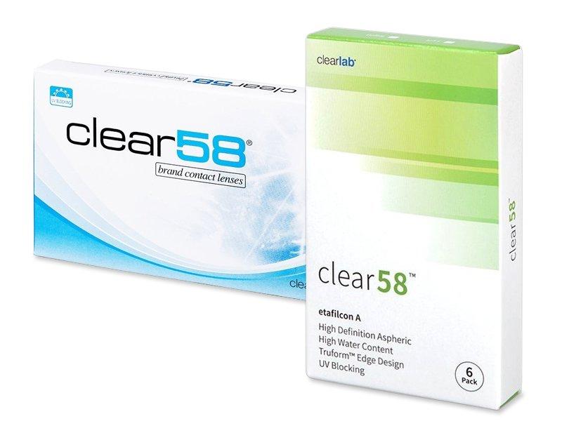 Clear 58 (6lenti) - Bi-weekly contact lenses