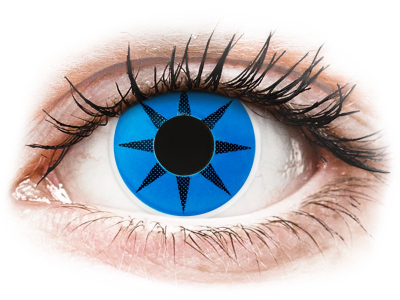 ColourVUE Crazy Lens - Blue Star - non correttive (2 lenti)