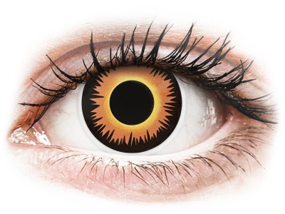 ColourVUE Crazy Lens - Orange Werewolf - non correttive (2 lenti)