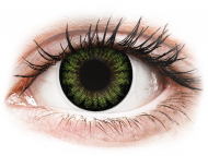 Lenti colorate - ColourVUE BigEyes Party Green - non correttive (2 lenti)