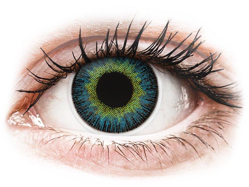 ColourVUE Fusion Yellow Blue - non correttive (2lenti) - Coloured contact lenses