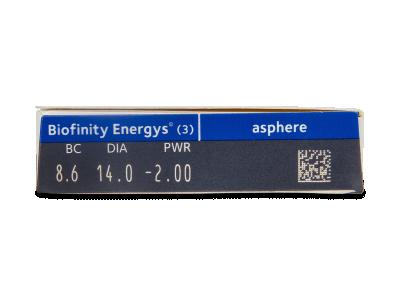 Biofinity Energys (3 lenti) - Attributes preview