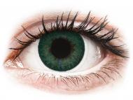 Lenti a contatto verdi - non correttive - FreshLook Dimensions Carribean Aqua - non correttive (2 lenti)