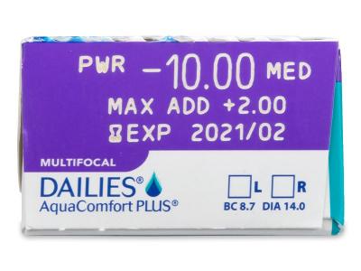 Dailies AquaComfort Plus Multifocal (30lenti) - Attributes preview