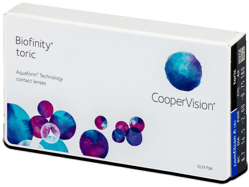 Biofinity Toric (6lenti) - Toric contact lenses