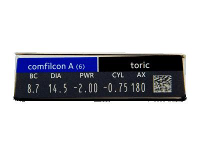 Biofinity Toric (6lenti) - Attributes preview