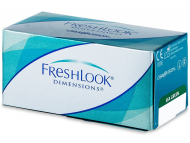 Lenti a contatto colorate - FreshLook Dimensions - da vista (6 lenti)