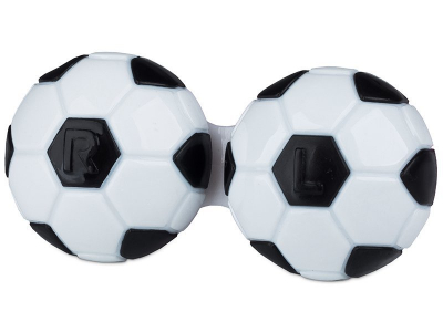 Astuccio porta lenti Football Black