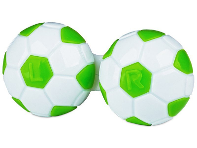 Astuccio porta lenti Football - green