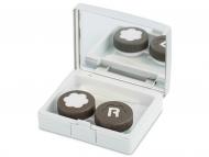 Accessori per le lenti - Astuccio con specchietto Elegant  - silver