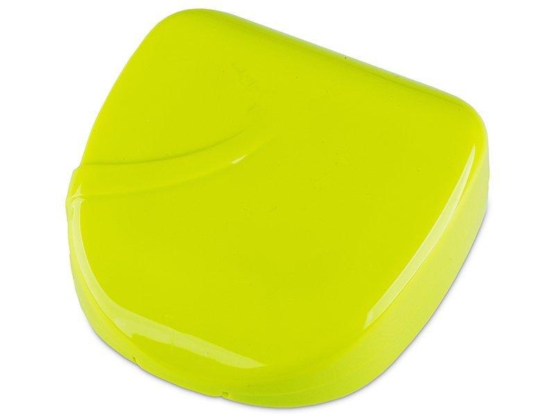 Astuccio con specchietto Line - yellow