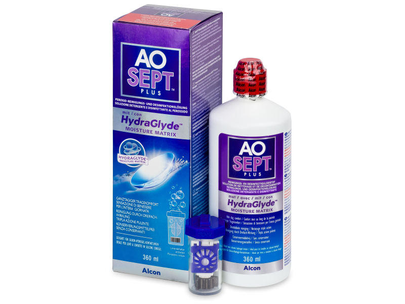 Soluzione AO SEPT PLUS HydraGlyde 360ml  - Cleaning solution