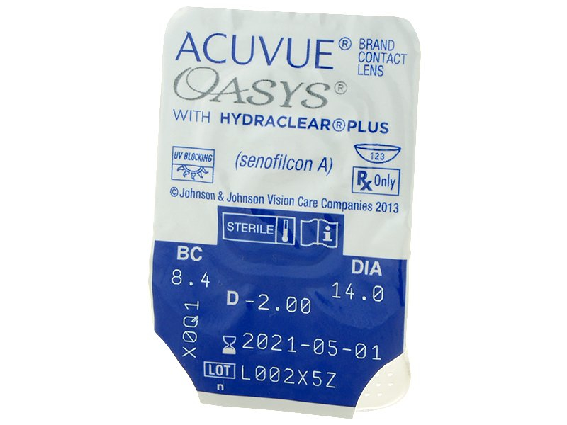 Blister pack preview - Acuvue Oasys (12 lenti)