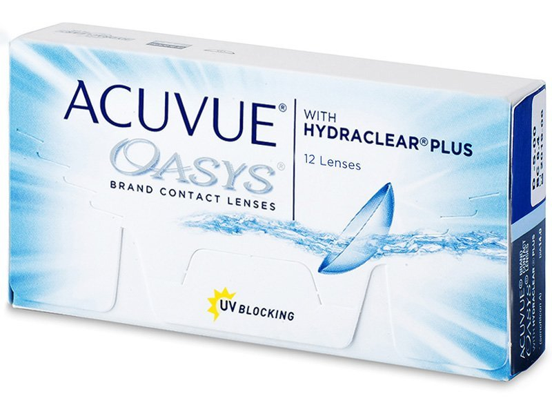 Bi-weekly contact lenses - Acuvue Oasys (12 lenti)