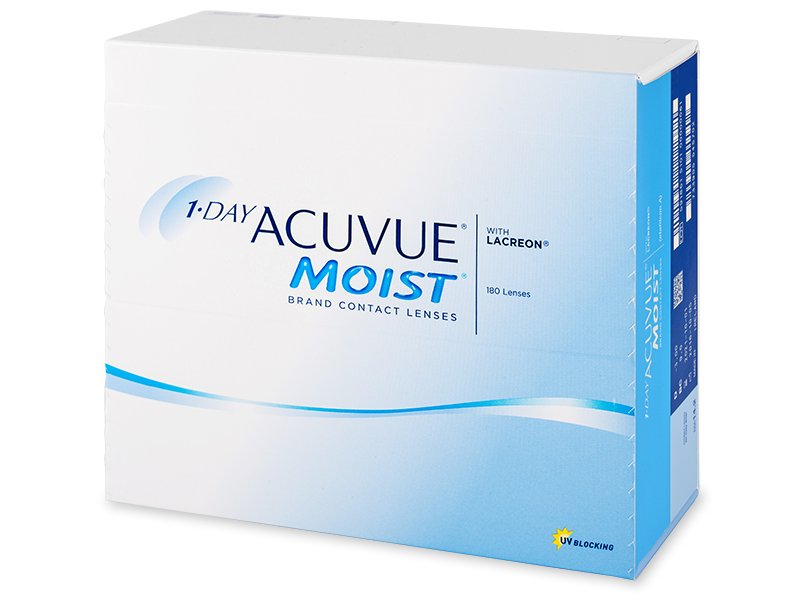 1 Day Acuvue Moist (180 lenti) - Daily contact lenses