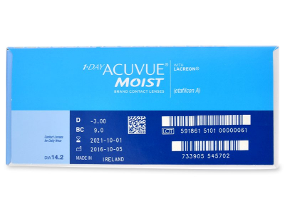 1 Day Acuvue Moist (180 lenti) - Attributes preview