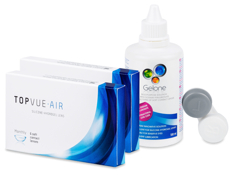 TopVue Air (2x6 lenti) + Gelone 100ml OMAGGIO - Package deal