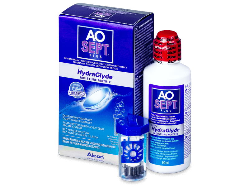 Soluzione AO SEPT PLUS HydraGlyde 90 ml  - Cleaning solution