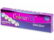 Lenti a contatto Maxvue Vision - ColourVue One Day TruBlends Rainbow (10 lenti)