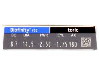 Biofinity Toric (3 lenti) - Attributes preview