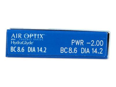 Air Optix plus HydraGlyde (6 lenti) - Attributes preview