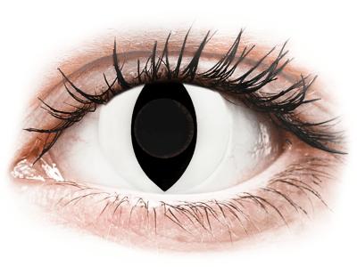 CRAZY LENS - Cat Eye White - giornaliere non correttive (2 lenti)