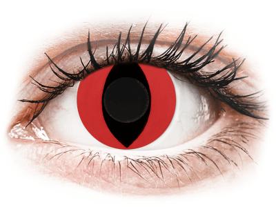 CRAZY LENS - Cat Eye Red - giornaliere non correttive (2 lenti)