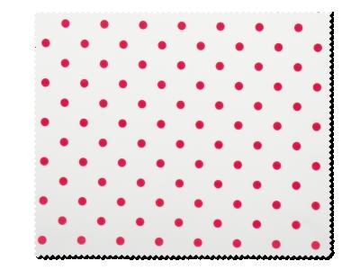 Panno per pulizia occhiali – design a pallini rossi