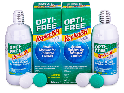 Soluzione OPTI-FREE RepleniSH 2 x 300 ml  - Economy duo pack- solution