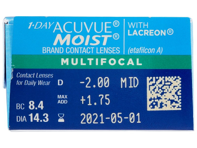 1 Day Acuvue Moist Multifocal (30 lenti) - Attributes preview