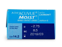1 Day Acuvue Moist (30 lenti) - Attributes preview