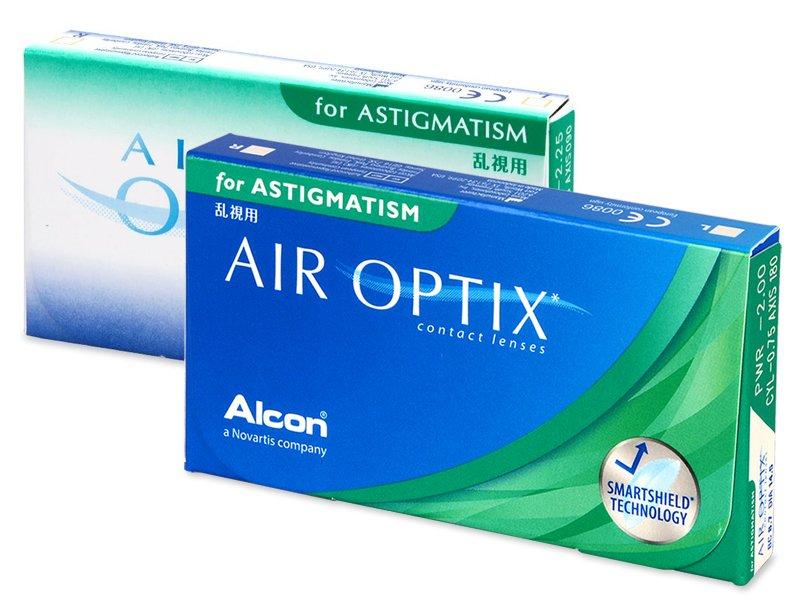 Toric contact lenses - Air Optix for Astigmatism (3lenti)