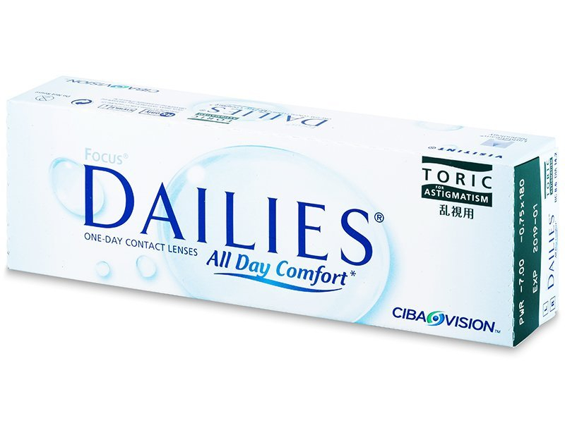 Focus Dailies Toric (30 lenti) - Toric contact lenses