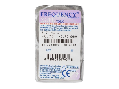 FREQUENCY XCEL TORIC (3lenti) - Blister pack preview