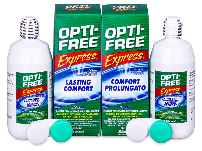 Soluzione OPTI-FREE Express 2 x 355 ml  - Economy duo pack- solution