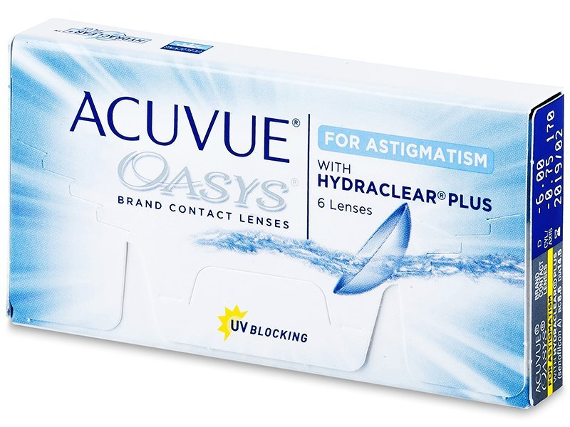 Toric contact lenses - Acuvue Oasys for Astigmatism (6 lenti)
