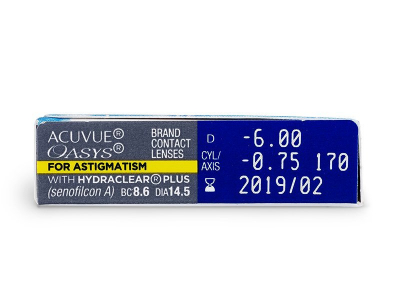 Acuvue Oasys for Astigmatism (6 lenti) - Attributes preview