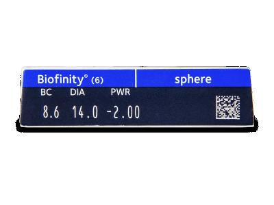 Biofinity (6 lenti) - Attributes preview