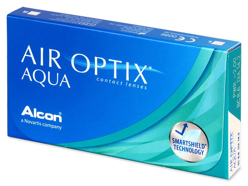 Air Optix Aqua (6 lenti) - Monthly contact lenses