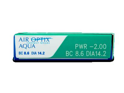 Air Optix Aqua (6 lenti) - Attributes preview