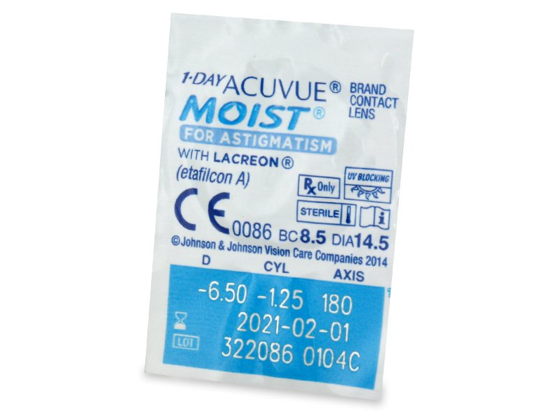 1 Day Acuvue Moist for Astigmatism (30 lenti) - Blister pack preview