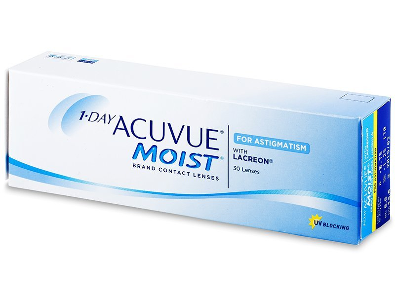 1 Day Acuvue Moist for Astigmatism (30 lenti) - Toric contact lenses