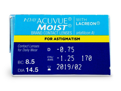 1 Day Acuvue Moist for Astigmatism (30 lenti) - Attributes preview