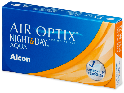 Air Optix Night and Day Aqua (3 lenti) - Monthly contact lenses