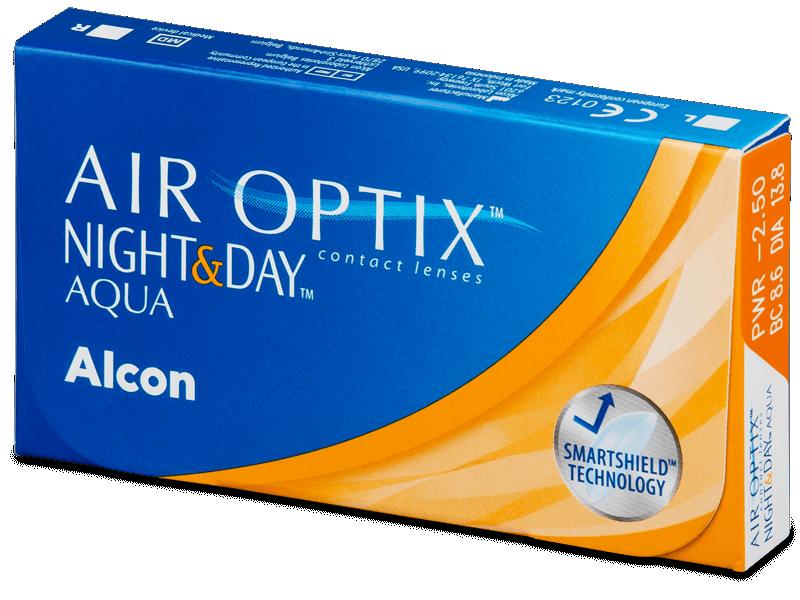 Air Optix Night and Day Aqua (6 lenti) - Monthly contact lenses